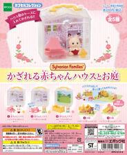 Epoch Sylvanian Families capsule toy BABY HOUSE & GARDEN 5pc set