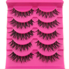 Hot Sale! 5 Pair/Lot Handmade cross False Eyelashes MESSY SOFT eye lashes