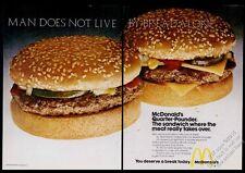 1973 McDonald's restaurant Quarter Pounder hamburger photo vintage print ad