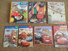 Lot of 7 Disney-Pixar Books: Cars*Planes*Read*Color*Stickers*Tonka Activities