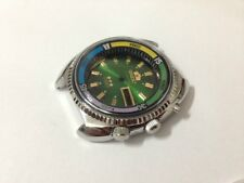 NEW OLD STOCK ORIENT SPORTS GENTS WATCH CASE SET,2/TONE GREEN DIAL.