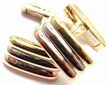 Rare! Authentic Vintage Cartier 18k Tri-Color Gold Trinity Cufflinks