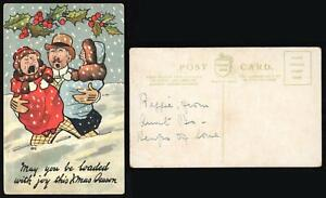 VINTAGE COMIC CRYING BABIES May You be Loaded with Joy this Christmas POSTCARD