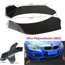 2Pcs Polyurethane ABS Car Front Bumper Splitter Lip Body Protector Diffuser Kit