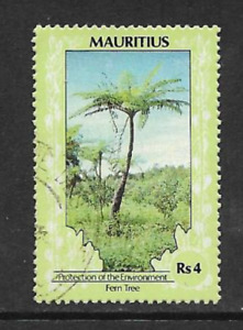 MAURITIUS POSTAL ISSUE - USED DEFINITIVE STAMP 1989, ENVIRO PROTECTION FERN TREE