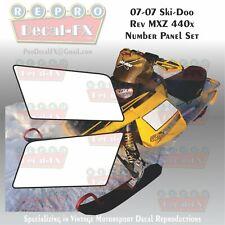 03-07 Ski-Doo MXZ 440x Number Panel Set Reproduction Graphics 2 Pc Vinyl Decals