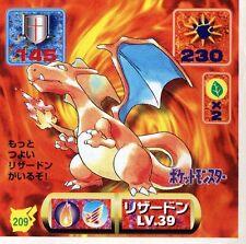 POKEMON STICKER Carte JAPANESE 50X50 1997 NORM@L N° 209 CHARIZARD DRACAUFEU