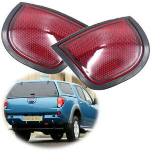 Pair Rear Bumper Light Reflector Tail Lamp For Mitsubishi L200 Triton 2005-2015