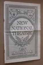 TWIN BEDS 1920 New National Theatre Playbill Booklet, Wash DC - Lois Bolton