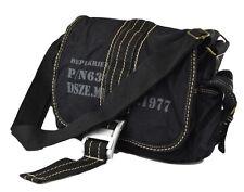 VintageStyle Canvas Shoulder Medium Messenger Bag-Black