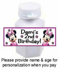 30 Minnie Mouse Clubhouse Birthday Party Or Baby Shower Mini Bubble Stickers