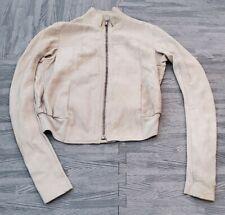 Rick Owens Lamb Leather Jacket Pearl sz 4