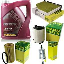 MANNOL 5L Extreme 5W-40 Motor-Öl+MANN-FILTER Seat Altea 5P1 2.0 FSI