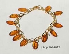 Bracciali di lusso con gemme ambra argento sterling