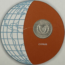 Coins of All Nations 1977 25 Mils Cyprus Coin and Stamp Set