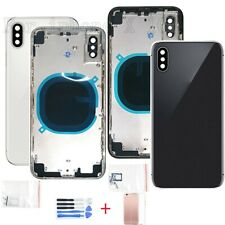 Replacement Full Metal Housing Glass Back Battery Cover For iPhone X + Buttons