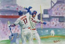 c377357b43 Rhys Hoskins Bryce Harper Art Print Watercolor Philadelphia Phillies
