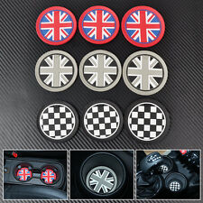 9x UK Flag Chess Anti-Slip Heat-proof Cup Mat Pad for Mini R55 R56 R57 R58 R59