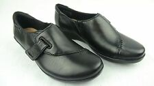 Clarks Women's Everlay Black Leather Soft Cushion Comfortable Loafer Shoes 5M
