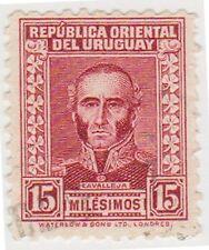 (UG-159) 1933 URUGUAY 15c RED LAVARETA (B)