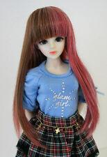 "1/6 bjd or 1/4 bjd 6-7"" doll wig multiple color long hair dollfie yosd iplehouse"