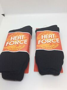 Heat Force Maximum Insulation Socks 5X Warmer Than A Basic Cotton Sock Size 5-9