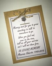 Funeral Favours Seeds Tree Memorial