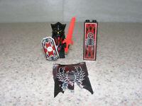 LEGO Shadow Knight Vladek Minifigure Kingdom 2 Castle Breast Plate Shield Sword