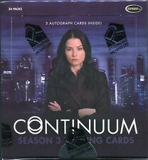 2015 Continuum Season 3 Factory Sealed Box w/ 3 autographs + P1 Promo Card