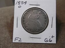1854-0 SEATED HALF  GOOD+  (F2)
