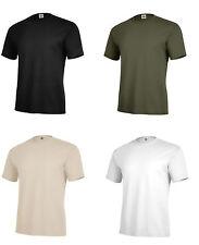 Solid Color T-Shirt Black OD Green Desert Army Navy USMC Plain Blank USAF USMC