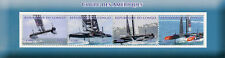 Congo 2017 CTO Americas America's Cup 4v M/S Sailing Boats Stamps