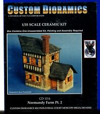 CUSTOM DIORAMICS CD 1114 - NORMANDY FARM Pt. 2 - 1/35 CERAMIC KIT