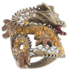 QVC Kirks Folly Ring Size 6 Brasstone Dragon Rider