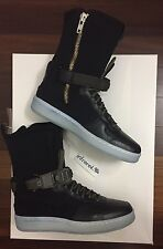 NEW Nike Acronym Downtown Black Olive Womens 7.5 Mens 6 Air Force Military Strap