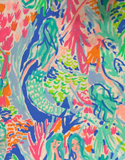 NWOT! Authentic PBK Lilly Pulitzer Full/Standard Fitted Bed Sheet - Mermaid Cove