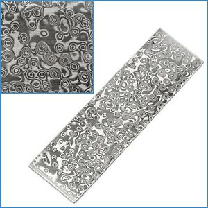 Spiral VG10 Forged Stainless Steel Clad Damascus Billet Bar 100x 30x 2.5