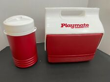 New Playmate Igloo Red Drink & Food Mini Travel Lunch Personal Size Cooler/Set