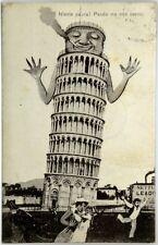 Cartolina Formato Piccolo - Pisa - Niente Paura! Pendo Ma Non Casco Viaggiata