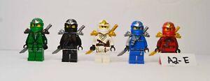 Lego Ninjago ZX Minifigures Jay Kai Cole Zane Black Red w/ Weapons