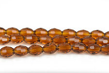 8mm Oval Rice Crystal beads fct TOPAZ Transparent crystal beads 72 beads bgl1447