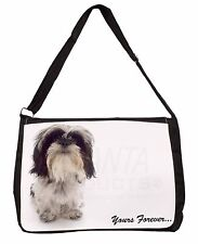 Shih Tzu Dog-Love Large Black Laptop Shoulder Bag School/College, AD-SZ8SB