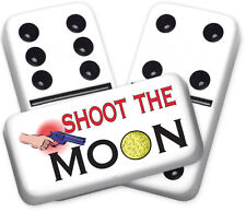 Greeting Series Shoot the Moon Design Double six Professional size Dominoes