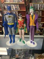 Batman And Robin & The Joker Action Figures 1988 DC 15 Inch & 12 Inch DC Comics