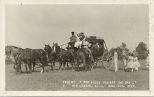 New London NH * Stage Coach RPPC 1929 * Hills Against The Sky Pagent