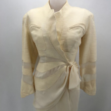 Thierry Mugler Ivory Skirt Suit 6