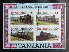 TIMBRES TRAINS : TANZANIE 1985 BOLC FEUILLET N°41** TRES BEAU PIQUAGE A CHEVAL