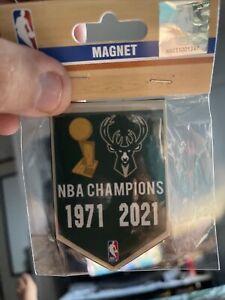 Milwaukee Bucks 2X NBA Finals Champions Banner Magnet NBA