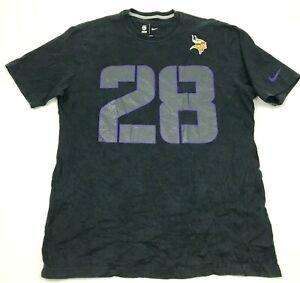 Nike Adrian Peterson Minnesota Vikings Shirt Size Large L Black NFL Football Tee