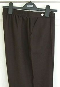 New Ladies Marks and Spencer Size 10 Medium Elacticated Waist Trousers  Black